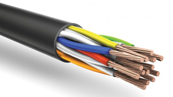 Огнестойкий кабель парной скрутки КуПе анг (А) frls сечением 0,5 мм2 в оболочке из ПВХ для промышленного интерфейса RS 485