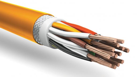 Огнестойкий кабель КуПе Кнг А FRHF 2х2х1.0-хл с проволочной броней для внешней прокладки в системах промышленной автоматики