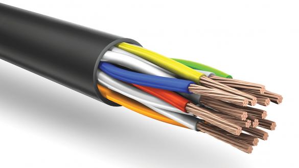 кабель купе анг (а) ls для групповой прокладки и RS 485 1x2x0.35 22AWG пожаробезопасный