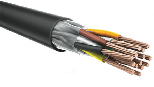 Негорючий кабель КуПе ИЭнг a ls 2х2х0.75 с экранированными парами типа STP для промышленных систем управления и контроля