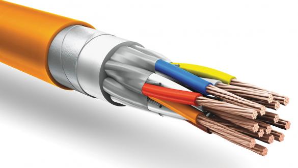 Негорючий кабель КуПе ИЭБнг а ls 2 2 1.5 с ленточной броней и экраном типа STP для подключения по интерфейсу RS 485