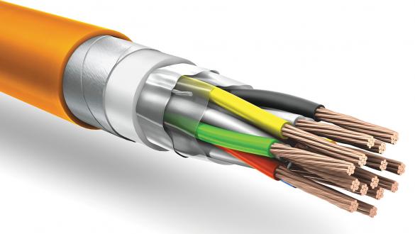 Негорючий кабель КуПе ОЭБнг а ls с ленточной броней и общим экраном типа FTP для промышленных систем управления и контроля