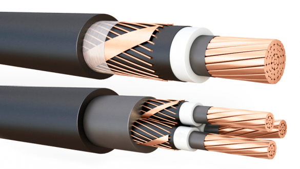 Кабель передачи электроэнергии на среднее напряжение по ГОСТ IEC 600079-14-2013 и ГОСТ Р 55025-2012 экранированный