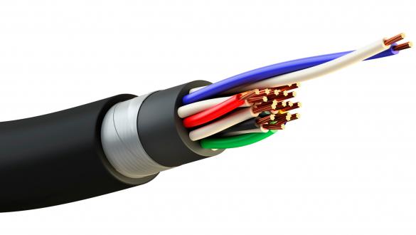 Негорючий кабель сетей передачи данных ИнСил-Бнг а ls 4х1.5 с ленточной броней для пожароопасных и взрывоопасных зон