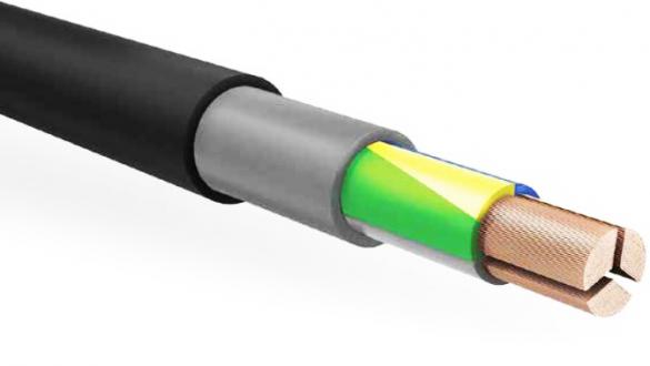 Трехжильный сегментный силовой кабель с оболочкой из ПВХ и защитой от грызунов