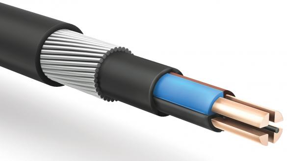 Кабель передачи электроэнергии частотой 50-400Гц и передачи данных частотой 1200Гц по ГОСТ IEC с проволочной броней