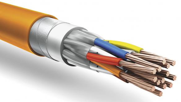Негорючий кабель КуПе ИЭБнг а ls с ленточной броней и экраном типа STP для подключения по интерфейсу RS 485