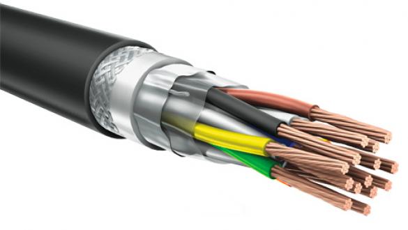 Негорючий кабель КуПе ОЭКнг ls 2х2х1.5 с проволочной броней и общим экраном для прокладки в системах промышленной автоматики