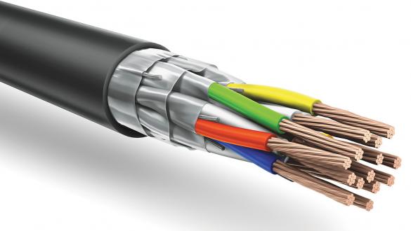 Негорючий кабель КуПе ИЭнг с экранированными жилами и общим экраном типа FFTP для промышленных систем управления и контроля