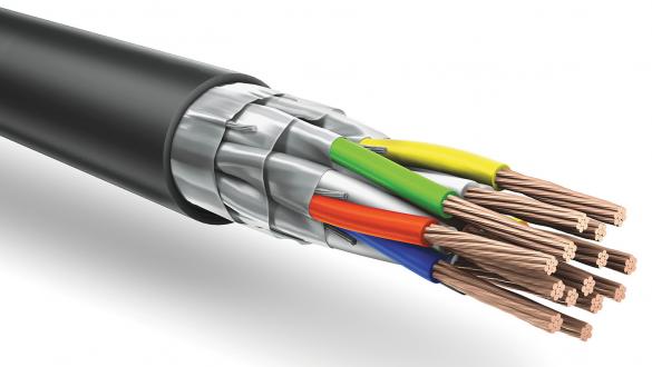 Негорючий кабель КуПе ИЭОЭнг с экранированными жилами и общим экраном типа FFTP для промышленных систем управления и контроля