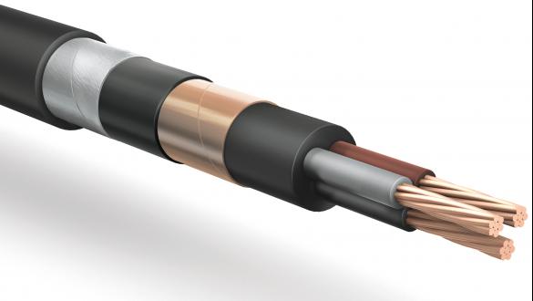 Экранированный бронированный силовой кабель в силиконовой изоляции и оболочке из неопреновой резины