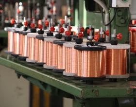 Катушки меди используемые при производстве кабеля КуПе